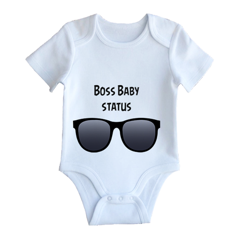 Boss baby customised baby jumpsuit
