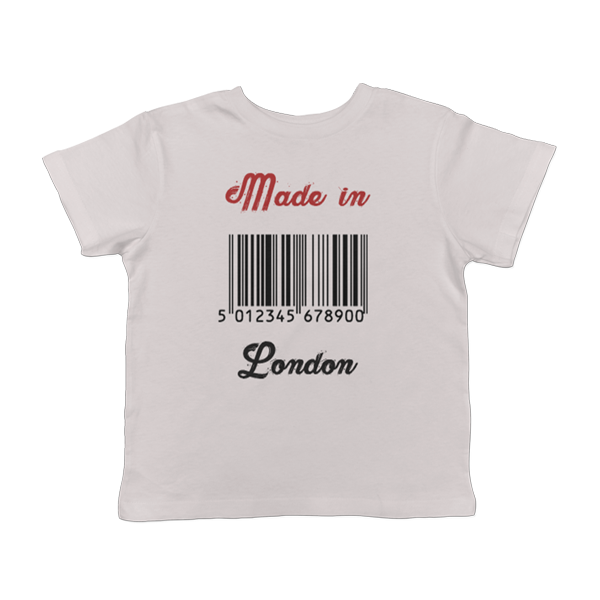 Made in London Personalised White kids t-shirt