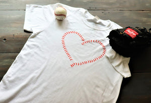 Heart Baseball Laces - KC Shirts