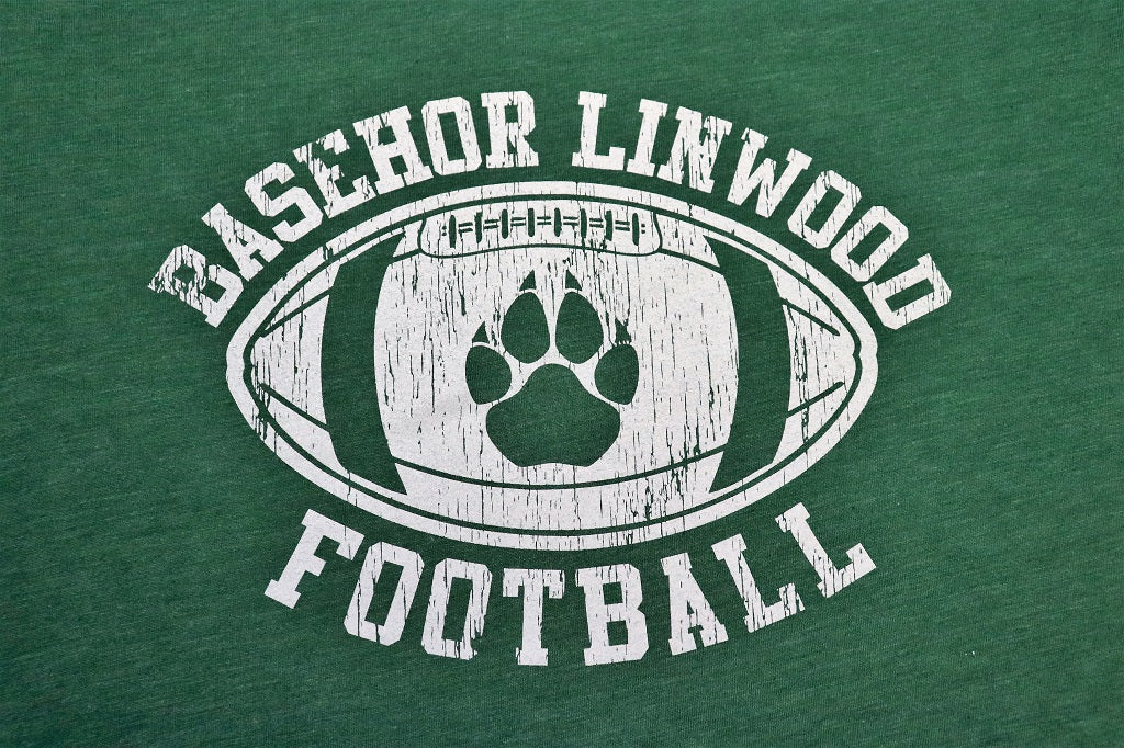 Basehor Linwood Football Green Tee