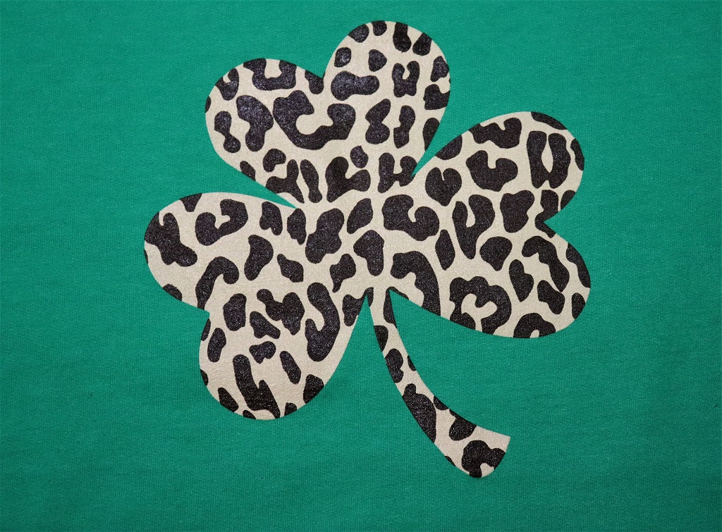 Cheetah Print Shamrock - KC Shirts