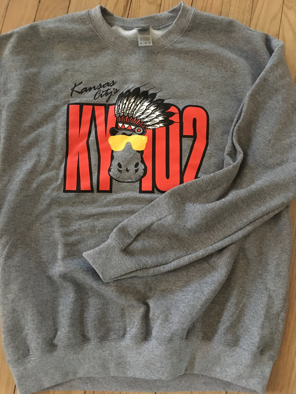 Hippo with headdress KY102 Crew Neck Sweatshirt