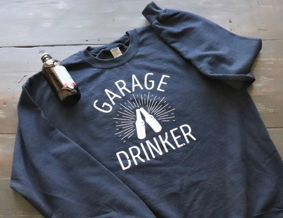 Garage Drinker™ Crew Neck Sweatshirt - KC Shirts