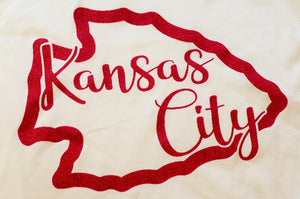 Glitter Kansas City Arrowhead Long Sleeve T-shirt