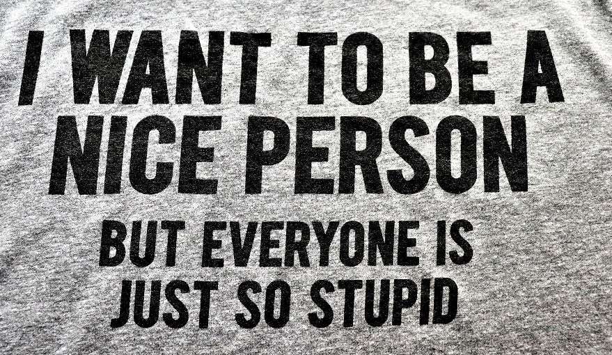 I want to be a nice person...but everyone is just so stupid!