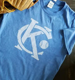 KC with baseball - KC Shirts