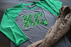 Tartan Plaid KC with Shamrock - KC Shirts