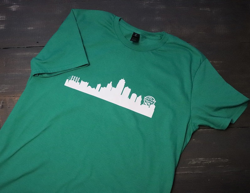 Green Kansas City Skyline - KC Shirts