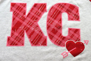 Plaid KC with Heart