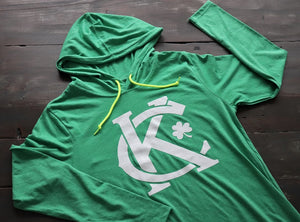 KC Shamrock Lightweight Hoodie - KC Shirts