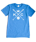 KC Baseball Crossed Bats - KC Shirts