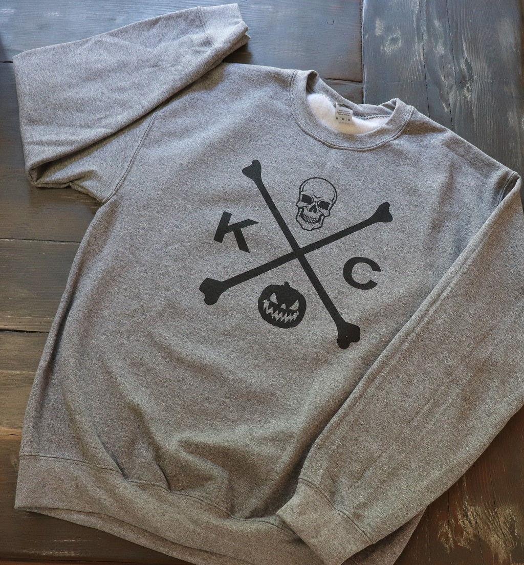 KC Skull and Bones Crew Neck Sweatshirt
