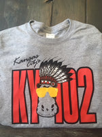 KY102 Gray Hippo with Headress - KC Shirts