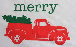 Merry - Christmas Truck Baseball Tee