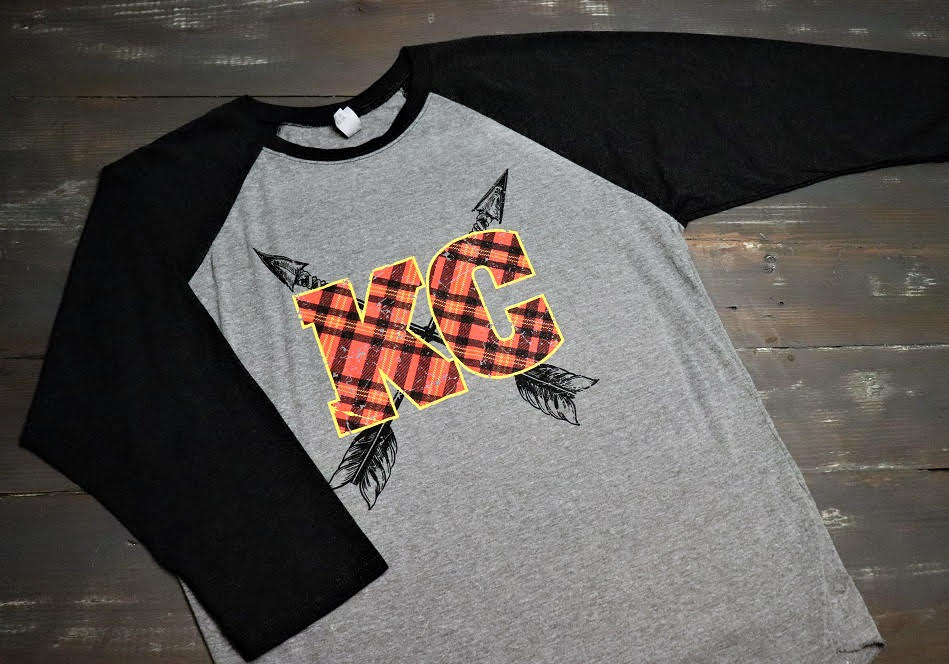 KC Plaid and Arrows - Baseball Sleeve