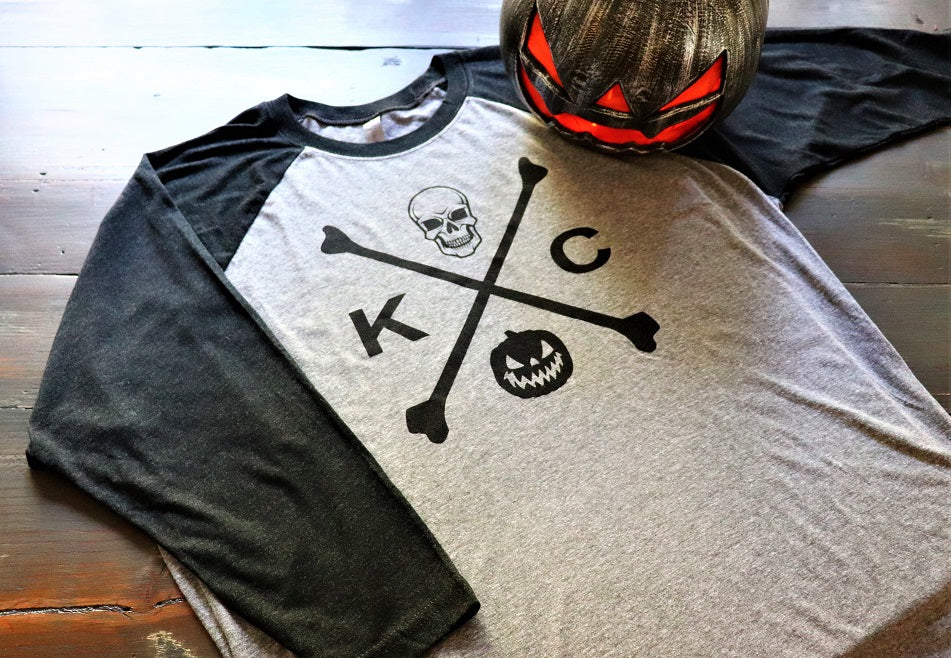KC Skull and Bones Baseball Tee