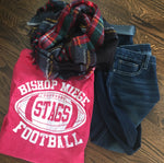 Bishop Miege Football Red Tee - Dalton Ink