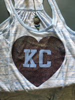 KC Glitter Heart Tank - Dalton Ink
