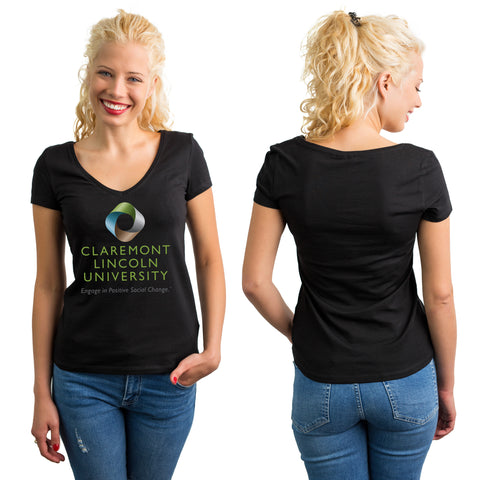Women's Short Sleeve Vneck Tshirt