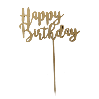 LETRERO CAKE TOPPER / HAPPY BIRTHDAY / GRANDE
