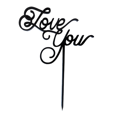 LETRERO CAKE TOPPER / LOVE YOU / CHICO