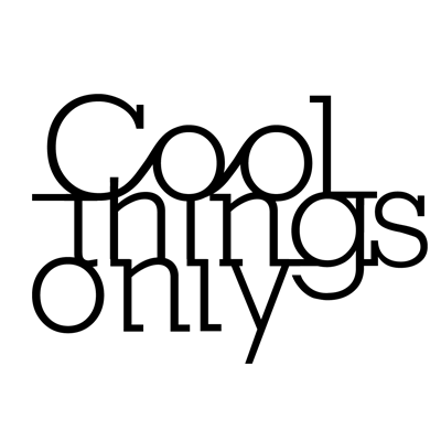 LETRERO COOL THINGS ONLY / NEGRO