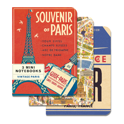 NOTEBOOK SET CH / VINTAGE PARIS