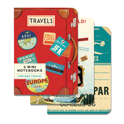 NOTEBOOK SET CH / VINTAGE TRAVEL