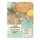 NOTEBOOK SET CH / VINTAGE MAPS