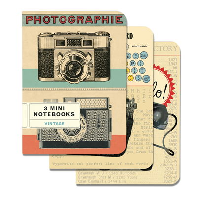 NOTEBOOK SET CH / VINTAGE CAMERAS