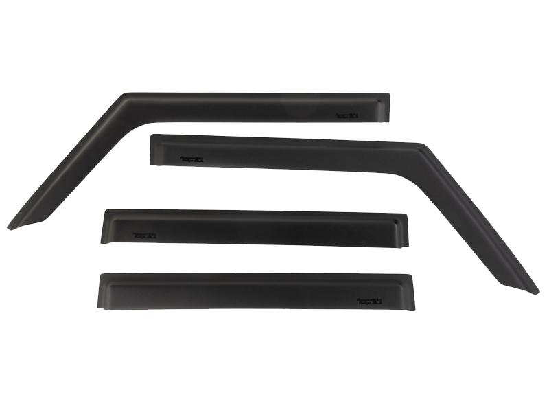 RUGGED RIDGE Vent Visors, Matte Black for 18-up Jeep Wrangler JL & JL Unlimited