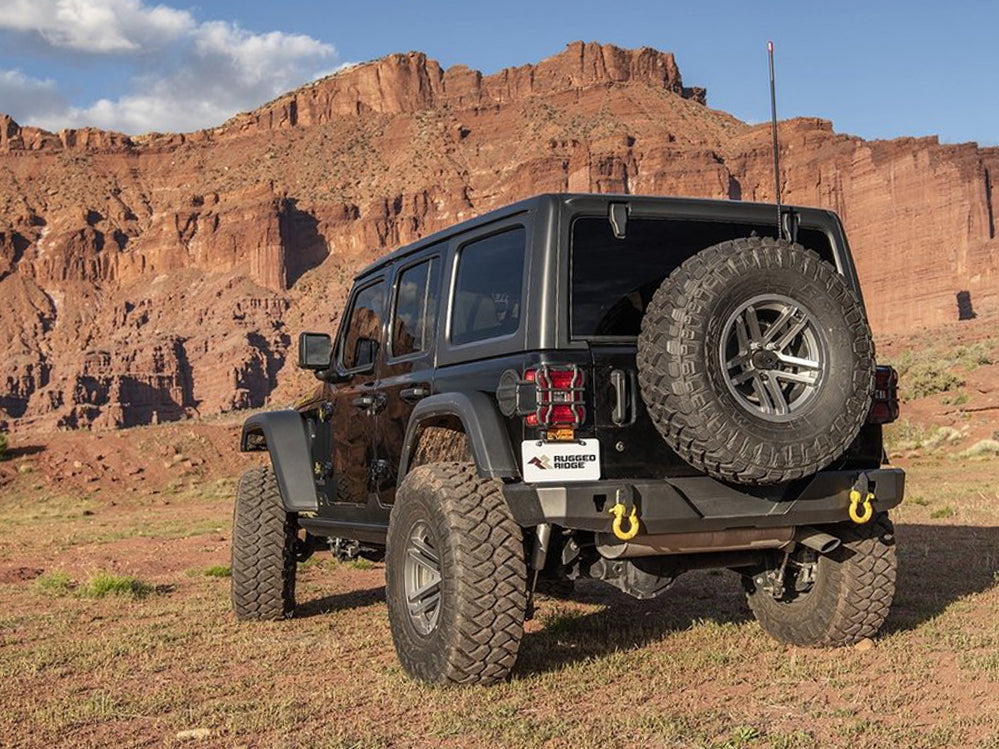 RUGGED RIDGE HD Rear Bumper for 18-up Jeep Wrangler JL & JL Unlimited