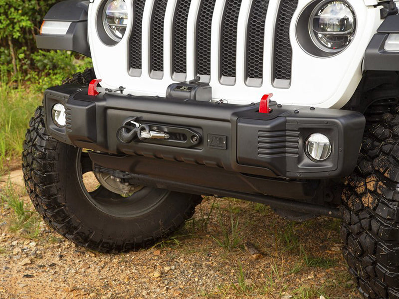 RUGGED RIDGE Spartacus Stubby Bumper, Black for 2018 Jeep Wrangler JL & JL Unlimited