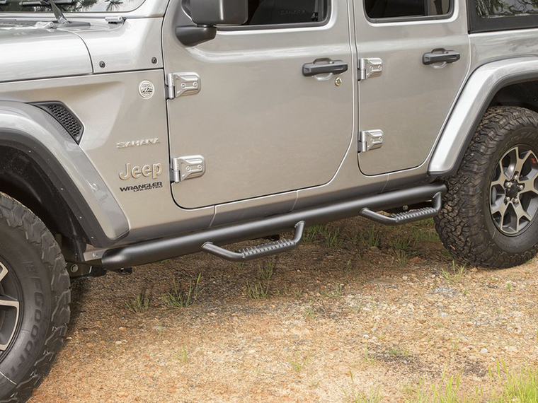 RUGGED RIDGE Spartan Nerf Bar Kit, Textured Black, for 18-up Jeep Wrangler JL & JL Unlimited