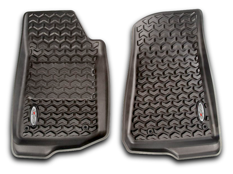 FORTEC Custom Molded Floor Liners by Rugged Ridge in Black for 18-up Jeep Wrangler JL & 20-up Gladiator JTUnlimited