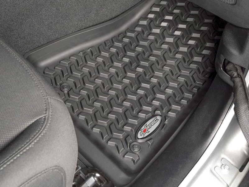 FORTEC Custom Molded Floor Liners by Rugged Ridge in Black for 18-up Jeep Wrangler JL & JL Unlimited