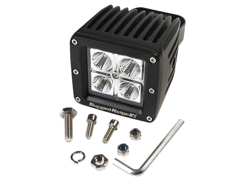 RUGGED RIDGE Square LED Driving Lights, 16W, 30,000 hours, 840 Lumens, Each for 3