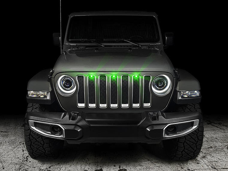 ORACLE Pre-Runner LED Grille Lights for 18-up Jeep Wrangler JL & 20-up Jeep Gladiator JT