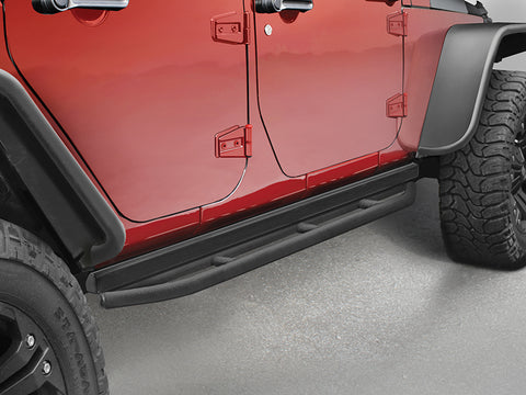 ACE Rock Rails, Pair, Black Textured (will work with Rubicon Rock Rails) for 07-18 Jeep Wrangler JK
