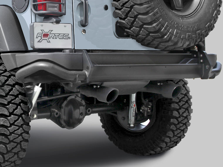 AEV Premium Rear Bumper, Textured Black for 07-18 Jeep Wrangler JK & JK Unlimited