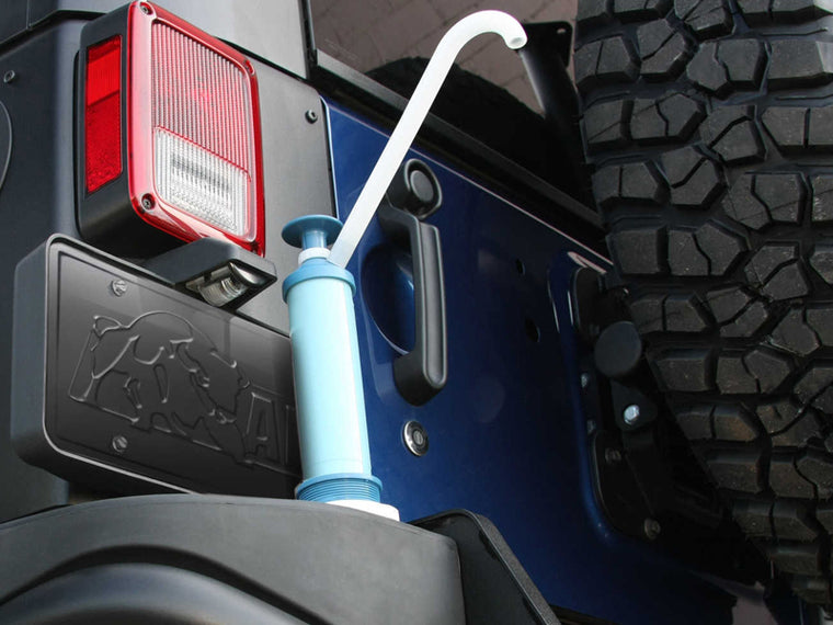 AEV Rear Bumper Tank Kit w Pump for Call of Duty & Moab Editions for 12-18 Jeep Wrangler JK & JK Unlimited