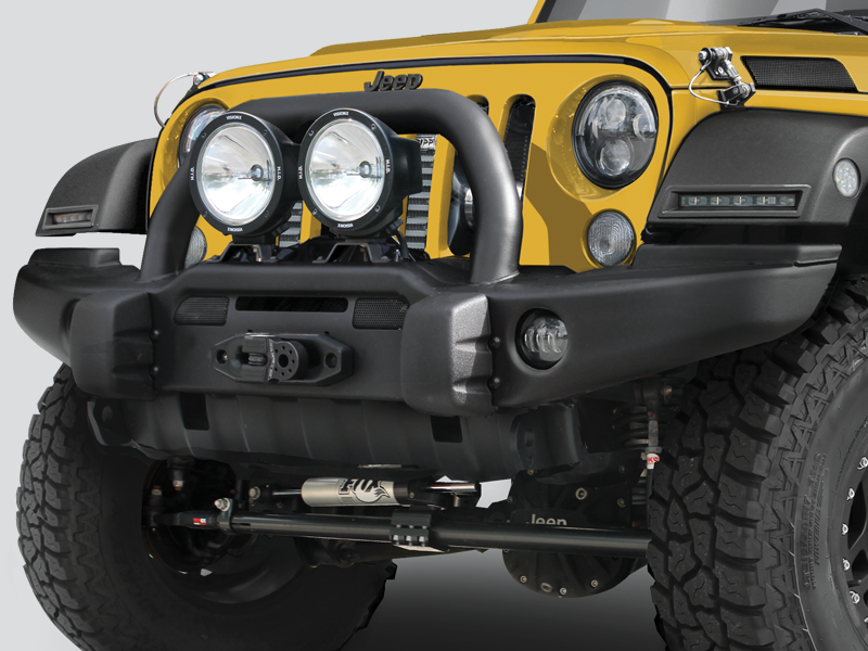 Good AEV Premium Front Bumper With Center Hoop In Textured Black For 07 18 Jeep  Wrangler