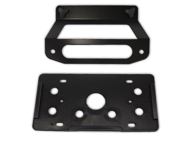 AEV Hawse Fairlead License Plate Mount Kit for 07-18 Jeep Wrangler JK & JK Unlimited