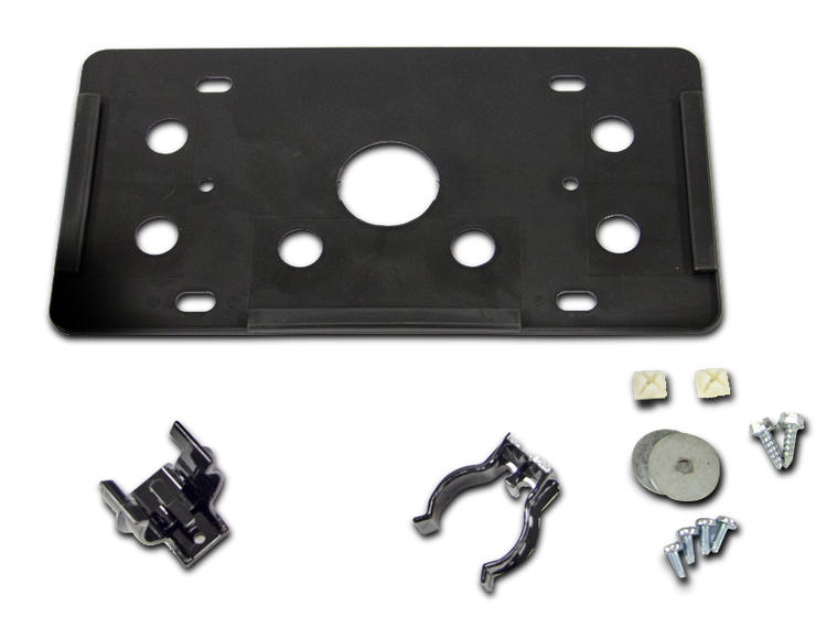 AEV Roller Fairlead License Plate Mount Kit for 07-18 Jeep Wrangler JK & JK Unlimited