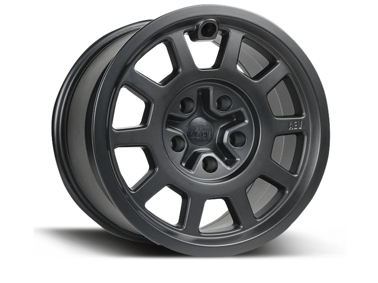 AEV Salta Wheel, Flat Black, 17x8.5, 5x5, +10mm Offset for 07-18 Jeep Wrangler JK & JK Unlimited