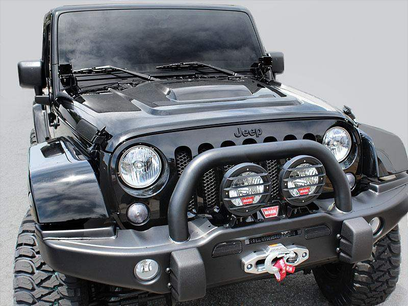 AEV Heat Reduction Hood E-Coated and Primed for 07-18 Jeep Wrangler JK & JK Unlimited