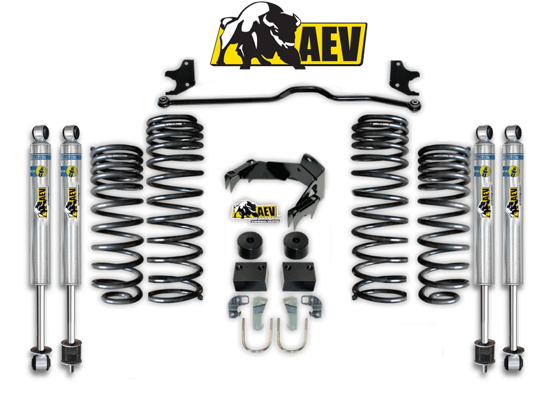 "AEV 2.5"" Dual Sport XT Suspension System, LHD for 07-18 Jeep Wrangler JK & JK Unlimited"