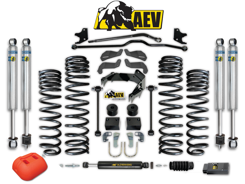 "AEV 4.5"" Dual Sport SC Suspension System for 07-18 Jeep Wrangler JK & JK Unlimited"