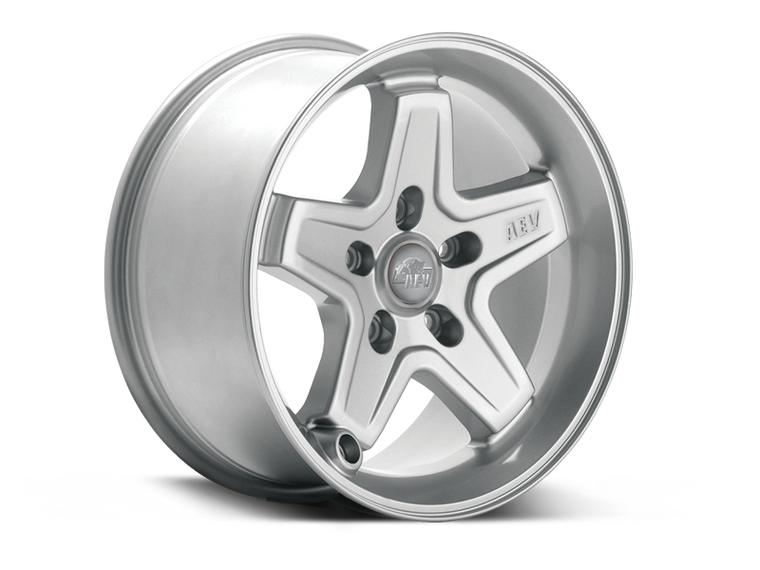 AEV Pintler Wheel, Silver, 17x8.5, 5x5, +10mm Offset for 07-18 Jeep Wrangler JK & JK Unlimited