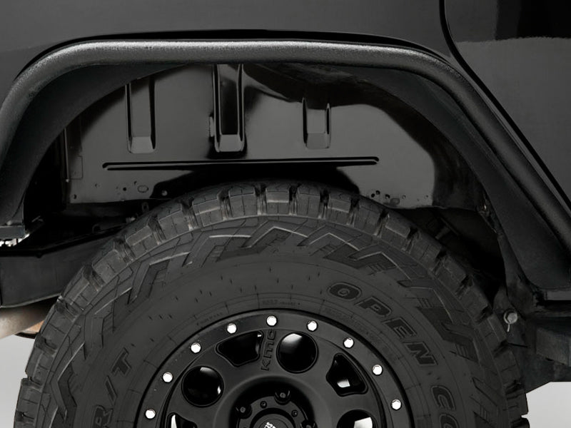ARIES Flat Fender Flares, Black Alum or Bare Alum for 07-18 Wrangler JK & JK Unlimited